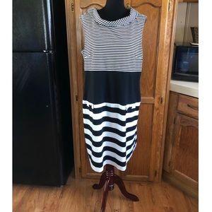 Danny & Nicole Striped Knit Dress Size 18W